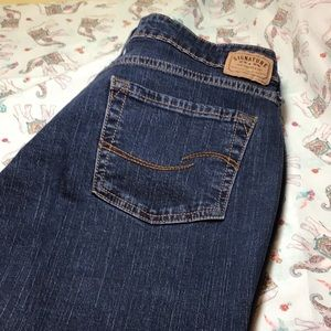 Levi's Signature bootcut 5 pocket jeans 14 short